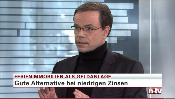 Finanzjournalist Andreas Kunze empfiehlt auf ntv den Porta Holiday Renditerechner. Quelle: Screenshot Telebörse ntv vom 16.11.2016 /15:40 Uhr.